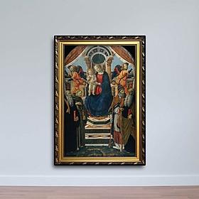 Tranh Thiên Chúa - Tranh Đức Mẹ, Chúa, Các Thánh Và Thiên Thần W627