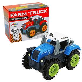 Đồ chơi mô hình xe tải nông trại KAVY chạy bằng pin, nhanh và vô cùng bền bỉ, nhựa nguyên sinh an toàn (màu xanh nước biển)