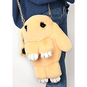 Ba lô kiêm tui đeo thời trang chất liệu thú nhồi bông 0107