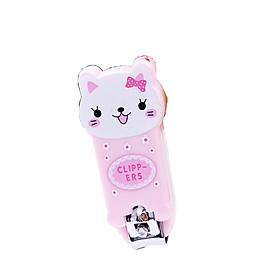 bấm móng tay hình con mèo hồng