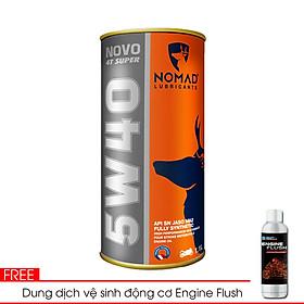 Combo nhớt Tổng hợp toàn phần NOMAD 1.1L API SN Tặng 1 dung dịch vệ sinh động cơ Engine Flush