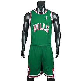Bộ quần áo bóng rổ Bulls - Xanh Két