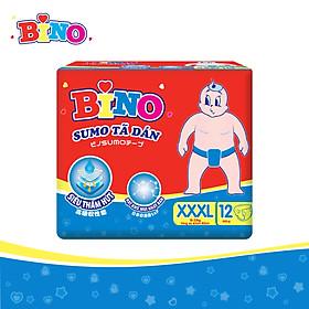 Tã dán Bino Sumo size XXXL12 công nghệ Nhật Bản lõi siêu thấm hút