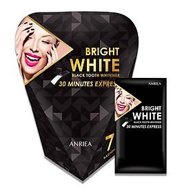 [Liệu Trình 7 Ngày Tặng 1 Miếng Dán Lẻ] Miếng Dán Trắng Răng Anriea Black Tooth Whitening - 30 Minutes Express