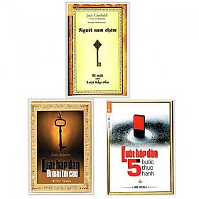 Combo Sách Kinh Tế Hay: Người Nam Châm +Luật Hấp Dẫn Bí Mật Tối Cao + Luật Hấp Dẫn - 5 Bước Thực Hành Tặng kèm bookmark Vadata