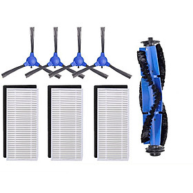 4 Side Brush + 3 Filter + 1 Main Brush Kit for Eufy 11S RoboVac 30 Eufy 30C 15C Vacuum Cleaner