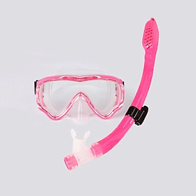 Kính lặn ống thở AMS, mắt kính CƯỜNG LỰC với ống thở van 1 chiều ngăn nước cao cấp - POKI
