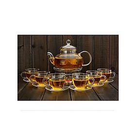 Bộ  ấm chén pha trà thủy tinh chịu nhiệt cao cấp - ANTH593
