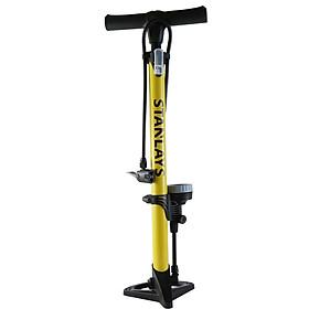 Bơm xe đạp xe máy, xe đạp ống vàng cao cấp có đồng hồ đo khí