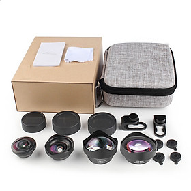 Mobile Phone Lens 4 in 1 Wide Angle Macro Fisheye Lens Universal Mobile Phone External Lens