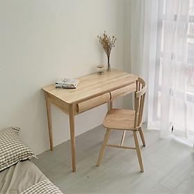 Bàn Làm Việc Gỗ Có Hộc ANHSON1016 - B Table - Natural - gỗ cao su
