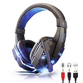 Tai nghe chụp tai có dây headphone gaming có mic + đèn LED dùng được cho cả điện thoại, laptop, máy tính nghe nhạc chơi game xem phim cực đã tặng kèm 1 móc khóa Bamboo