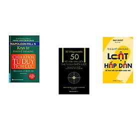 Combo 3 cuốn sách: Chìa Khóa Tư Duy Tích Cực + 50 mô hình kinh điển cho tư duy chiến lược + 9 Bí quyết vận dụng luật hấp dẫn để thay đổi vận mệnh cuộc đời