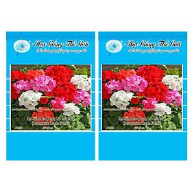 Bộ 2 Gói Hạt Giống Hoa Phong Lữ - Mix Màu (Pelargonium Zonale F2 Mix) 5h