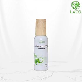 Combo Xịt dưỡng tóc Amla Hair Reborn LACO 100ml + Bông nở rửa mặt Laco 12pcs