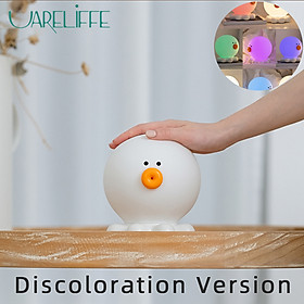 Uareliffe Small Night Light Normal/Colorful Two Versions Cute Octopus Shape Design Bedside Lamp Silicone Soft Touch Type-C Rechargeable Bedroom Lamp 3 Kind Brightness Adjustable Desk Lamp Kids Gifts
