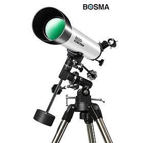 Kính thiên văn Bosma 80EQ - hàng chính hãng, Kính thiên văn khúc xạ quan sát cả thiên văn và địa văn, Đường kính 80mm, tiêu cự 900mm