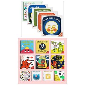 Bộ 15 Cuốn Ehon Nhật Bản Thông Minh , Sáng Tạo : Ehon Những Điều Kỳ Diệu Của Âm Thanh + Màu Sắc + Hình Khối + Ehon Nhật Bản - Dành Cho Trẻ 0-3 Tuổi (5Q) + Poster An Toàn (Phát Triển Tư Duy Dành Cho Bé từ 0-6 Tuổi)