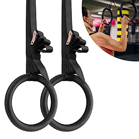 28mm ABS Gymnastic Rings Gym Rings with Adjustable Strap for Home Gym Fitness Body Strength and Muscular Bodyweight