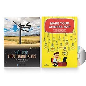 Sách- Combo gửi tôi thời Thanh Xuân song ngữ Trung việt có phiên âm MP3 nghe + Make your Chinese map Bản đồ tư duy từ vựng Tiếng Trung theo chủ đề +DVD tài liệu