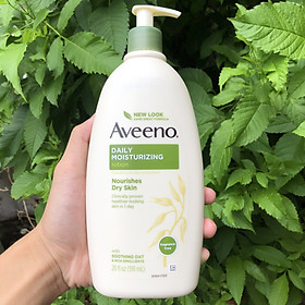Sữa dưỡng thể Aveeno Daily Moisturizing Lotion Nourishes Dry Skin Fragrance Free 591m