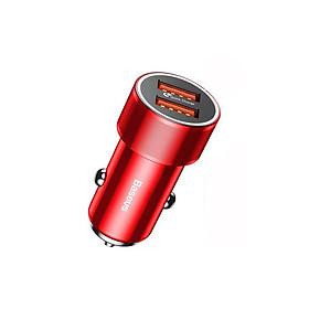 Sạc nhanh đa năng Baseus Small Screw Dual-USB dùng cho xe hơi (36W, Quick Charge 3.0, 2 Ports USB Car Charger) - Hàng Chính Hãng