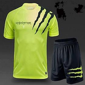 Bộ đồ thể thao cho nam in chữ Monster đủ 3 màu cực bền và đẹp BTT001