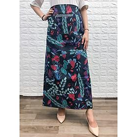 Váy chống nắng loại xẻ tà chất liệu JEAN hoa văn VJXT0015