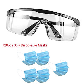 Windproof Cycling Goggles UV Protect Anti-Fog Over Glasses Lab Eyewear