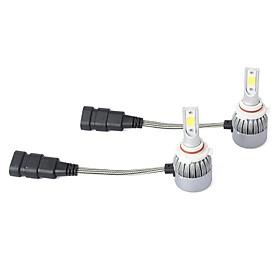 2pcs C6 72W 7600LM 6000K COB LED Car Headlight Lamp Kit H4/H7/9005/9006