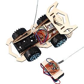 Bộ đồ chơi khoa học tự làm ô tô dạng xe đua điều khiển từ xa bằng gỗ – DIY Wood Steam