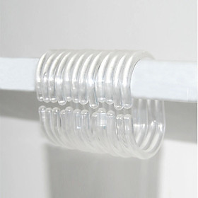 Shower Curtain Rings Clear Set of 36 Silicone Rubber