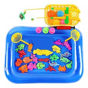 Đồ Chơi Câu Cá Cho Bé Nhiều Con Vật, Có Bể, Bơm Tay và Rổ Cất Gọn (Rổ Màu Ngẫu Nhiên)