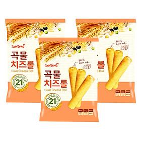 Combo 3 Bánh Xốp Ngũ Cốc Nhân Phô Mai Samyang (80g / Gói)