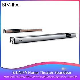 Xiaomi BINNIFA TV Soundbar Loa Bluetooth Tiếng vang Tường bằng kim loại Âm thanh bằng gỗ Màn hình cảm ứng LED