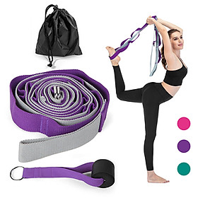 14 Loops Yoga Assistance Stretching Strap Multi-Loop Strap Stretch Out Strap for Physical Therapy Workout Yoga Exercise