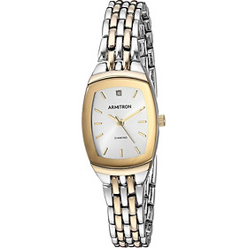 Armitron Women's 75/5195SVTT Diamond Accented Dial Two-Tone Bracelet Watch