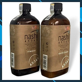 Bộ dầu gội xả Nashi Argan Classic Shampoo and Conditioner siêu mềm mượt phục hồi tóc Italy 500ml