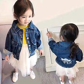 Áo khoác jean Quảng Châu cho bé gái 01706