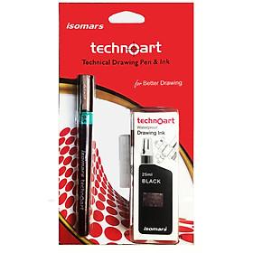 Bút Vẽ Kỹ Thuật Chuyên Dụng ISOMARS Technoart Technical Drawing Pen & Pink