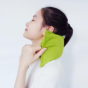 Gối chườm nóng thảo dược đa năng cho vùng cổ, lưng bụng, đầu gối, giảm nhức mỏi, thư giãn, gối ngủ ngon dùng lò vi sóng làm nóng - Hapaku