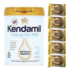 Sữa bột nguyên kem KENDAMIL số 2 FOLLOW-ON MILK 900g (6-12 tháng tuổi) - Tăng sức đề kháng, tăng cân, phát triển chiều cao và trí não – Tặng 5 bánh quy Nhật Bản hiệu Aee