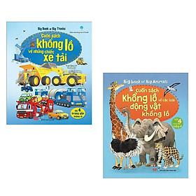 Combo Sách Tương Tác - Big Book: Cuốn Sách Khổng Lồ Về Những Chiếc Xe Tải + Cuốn Sách Khổng Lồ Về Các Loài Động Vật Khổng Lồ (2 Cuốn)