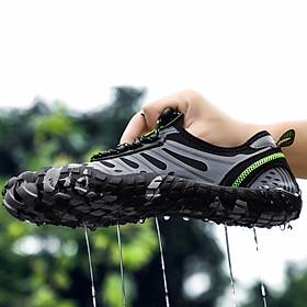 Giày đi nước chống trơn trượt, nhẹ, thoáng, phù hợp đi du lich, leo núi, thân thiện với môi trường, chịu nước tốt và nhanh khô (SA053-G)-2