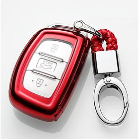 Combo ốp chìa khóa 360 độ cho xe Hyundai Grand I10, Tucson, Elantra... Silicon phủ gương kèm móc đeo INOX