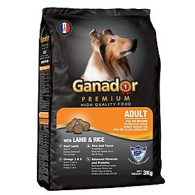 Thức ăn cho chó trưởng thành Ganador vị thịt cừu & gạo Lamb & Rice 3 kg