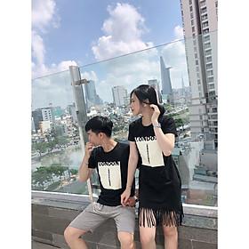 Set đồ đôi áo váy cặp CoupleTina 100% cotton cao cấp  - Màu đen  LONDON
