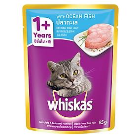 Đồ Ăn Cho Mèo Lớn Whiskas Vị Cá Biển 85g