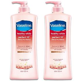 Combo 2 Sữa Dưỡng Thể Vaseline Trắng Da 10 Lợi Ích (350ml)