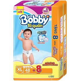 Tặng 8 Miếng Phiên Bản Hè Tã Quần Bobby Siêu Thoáng XL48